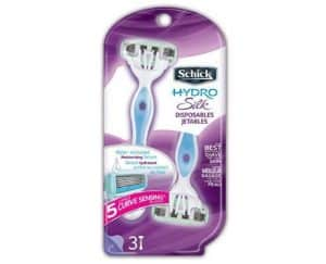1. Schick Hydro Silk Razor Disposable Razors for Women