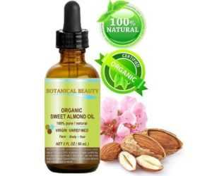 10. Botanical Beauty Organic Sweet Almond Oil