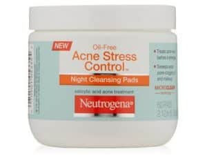 10. Neutrogena Acne Stress Control Night Cleansing Pads