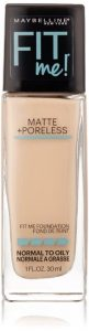 9. Maybelline New York Fit Me Matte Plus Poreless Foundation Makeup