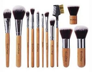 2. EmaxDesign 12 Pieces Makeup Brush Set