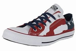 6. Converse Men's All Star Low Top Bars and Stars Flag
