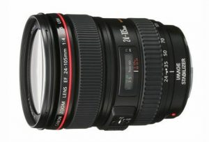 8. Canon EF 24 - 105 mm Lens