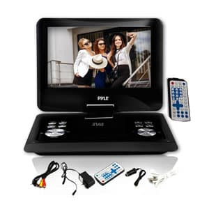 Pyle Home 14 Inch Screen Tft Lcd Monitor Portable Dvd Player With Sd Card Slot And Usb Port Pdh14
