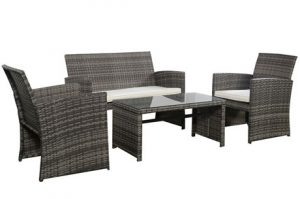 The Goplus Patio Furniture Set Consists Of Four Pieces That Have A  Contemporary Flavor And Look. As A Whole, The Set Looks Impressive And One  Thing Youu0027ll ...