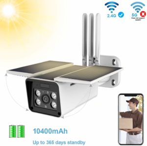 FUVISION Solar Powered Wireless Outdoor 1080P Home Security Camera