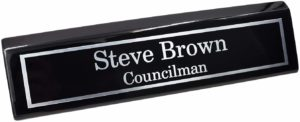Holmes Stamp & Sign Custom Desk Name Plate