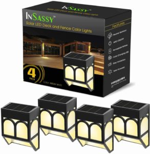 InSassy Solar Deck Lights